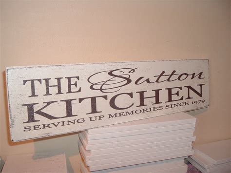 shabby chic distressed personalised kitchen sign plaque