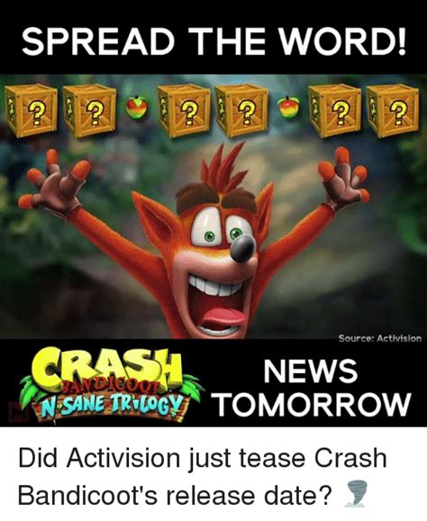 Crash Meme - 25 best memes about crash bandicoot crash bandicoot memes