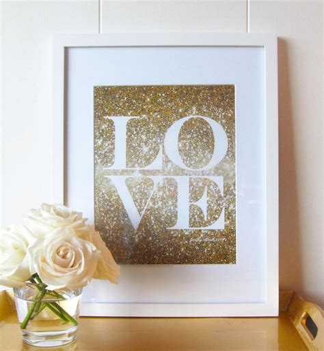 gold love themes glitter love print gold glitter love glitter wall art