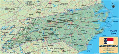 map usa carolina map of carolina united states usa map in the