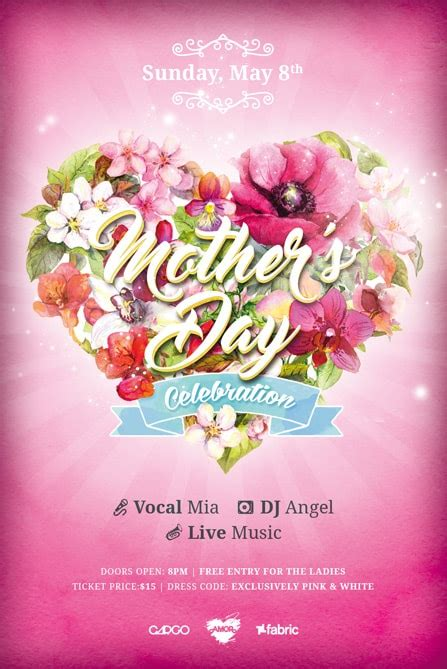 mothers day template mothers day celebration free flyer template best of flyers