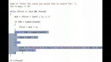 Search C C Binary Search