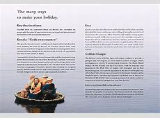 Cocohol in Brochure, Express Travel & Tourism and in the media Kerala Tourism Brochure