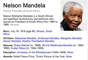 name the biography of nelson mandela google users want a nelson mandela logo for his 95th birthday