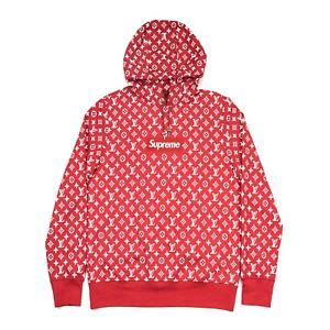 Louis Vuttion X Supreme Bogo Hoodie 100 authentic new supreme x louis vuitton monogram box
