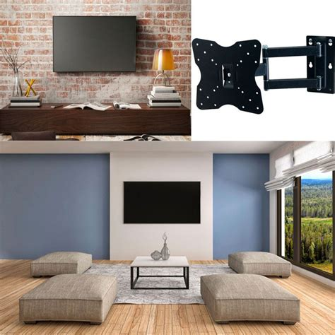 Support Mural Tv Pivotant Inclinable by Support Tv Mural Pivotant Et Inclinable Capacit 201 25 Kg