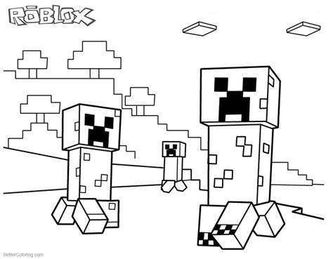 minecraft creeper coloring page roblox minecraft coloring pages creepers free printable