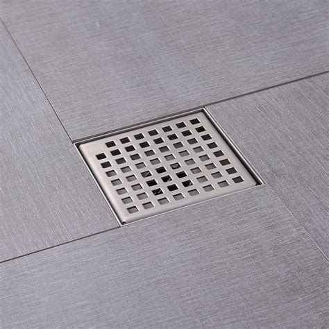 drain in bathroom floor kes square shower floor drain with removable grate