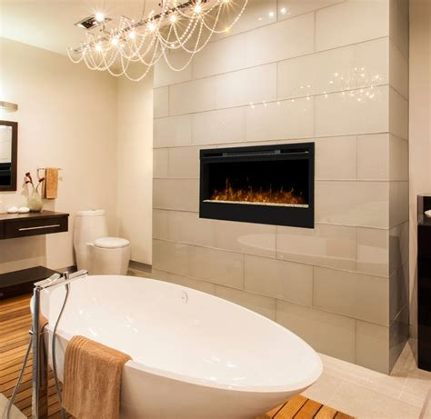 fireplace in bathroom wall 34 best images about electric fireplaces by dimplex on