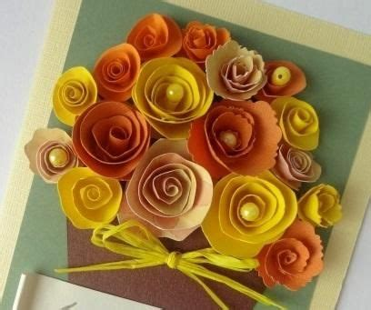 How To Make Paper Flowers For Greeting Cards - quilling technique how to make a greeting card