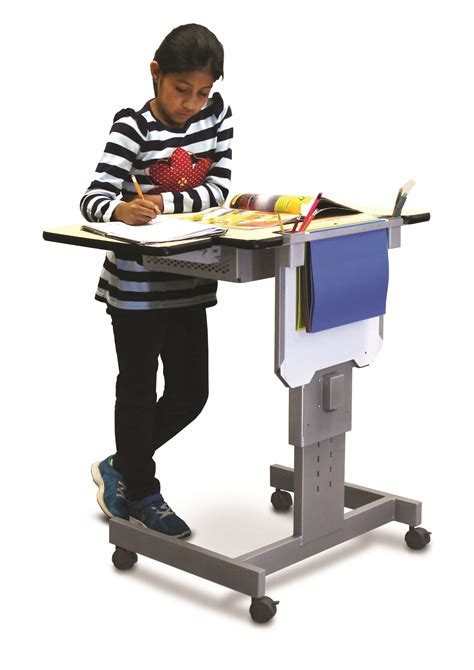desk lift system with learning challenges benefit with new height adjustable desk from the marvel