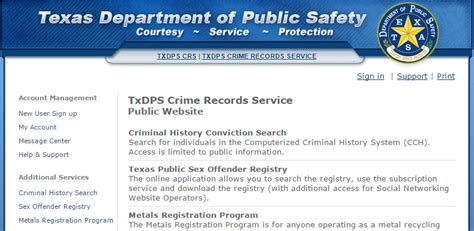 Security License Criminal Record Study Txdps Crs Website Provides Instant Access To Criminal Records Microassist