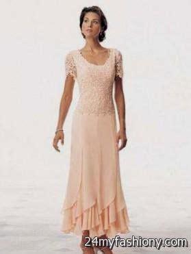 mother   bride dresses tea length lace