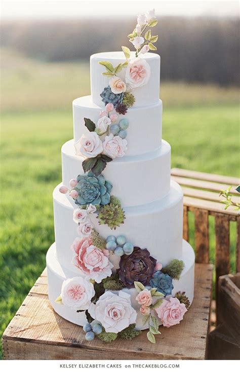 Simple Wedding Cake Designs by 25 Best Ideas About Succulent Wedding Cakes On