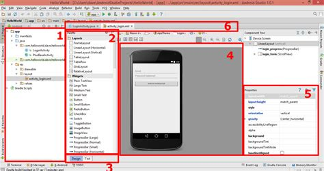 android studio project layout using android studio to create apps drag 227 o sem chama