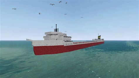 ss edmund fitzgerald sinking sinking edmund fitzgerald from the depths minecraft