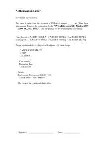 Authorization Letter For Bank Signature authority letter format to authorize a person best template