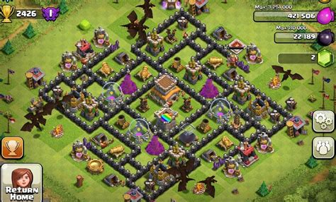 clash of clans layout strategy level 8 best clash of clans town hall level 8 defense strategy