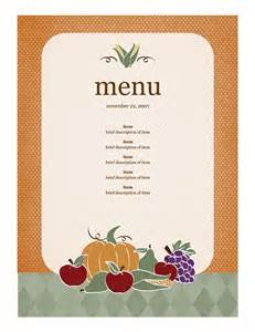free dinner menu template 1000 images about thanksgiving on
