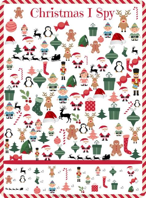 christmas pattern game christmas i spy game language restaurant and i spy