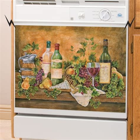 Grapes And Wine Home Decor by Decorative Magnetic Dishwasher Covers Vineyard Decor For