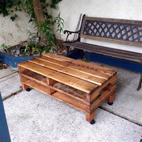 Coffee Table Pallets Simple Pallet Coffee Table On Wheels
