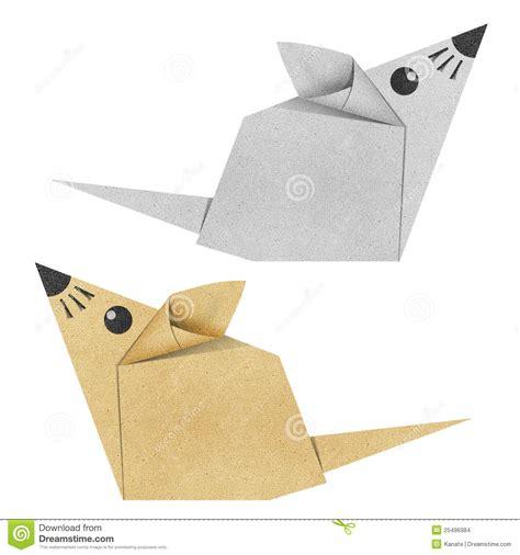 Origami Papercraft - gerecycleerde de muis de origami papercraft stock