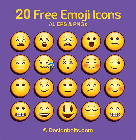 emoji vector free cool free vector emoticons emoji icons in eps ai pngs