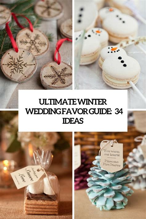 Winter Wedding Favors by Ultimate Winter Wedding Favor Guide 34 Ideas Weddingomania
