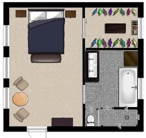Master Bedroom And Bathroom Floor Plans by Master Suite Floor Plans In Easy Flow Design Large For