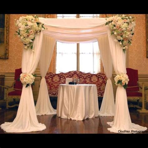 draping flowers for weddings chuppah i like the draping fabric in this chuppah