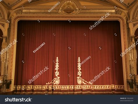 curtains up theatre theatre before curtain stock photo 19022029 shutterstock
