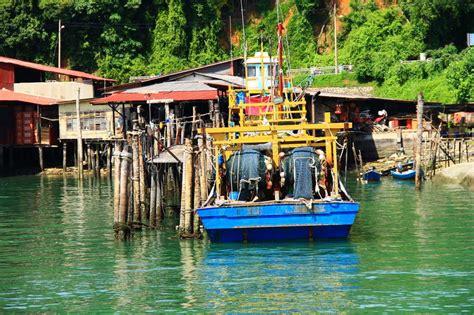 village jetty stock photo image 64063688 jetty fishing village at pulau pangkor malaysia