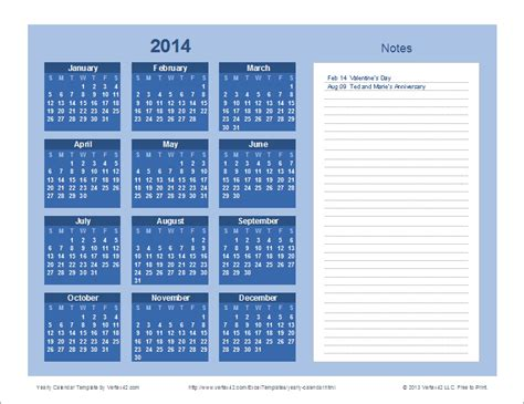 Blue Note Calendar Yearly Calendar Template For 2018 And Beyond