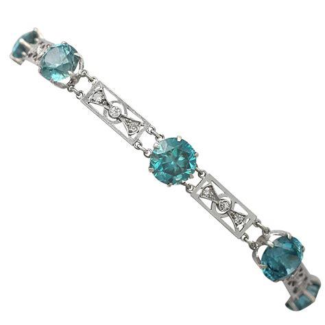 Zircon Bracelet by 1920s Blue Zircon Gold Bracelet For Sale At 1stdibs