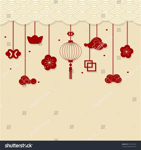 new year decorative elements new year background new stock vector
