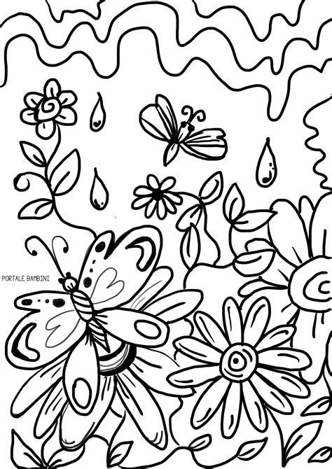 disegni da colorare di fiori e farfalle disegni primavera da stare e colorare foto mamma