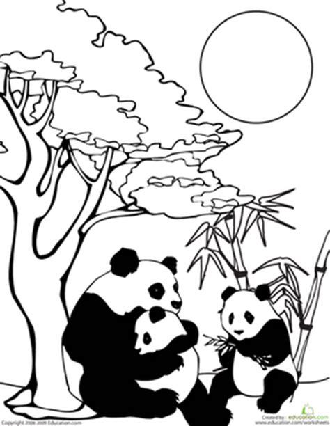 panda family coloring page color the panda family colors animals and panda family