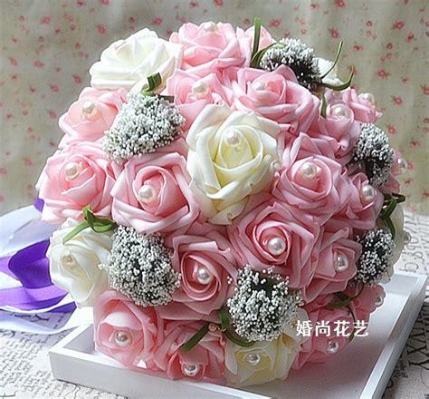 Cheap Wedding Bouquets by Cheap Wedding Bouquet Artificial Silk Flowers
