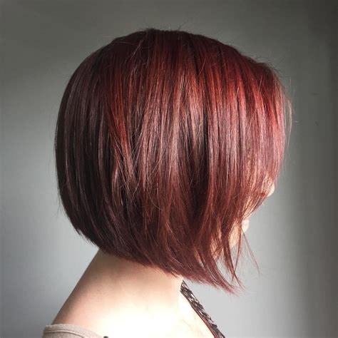 angled bob colored hair bob haircuts for fine hair long and short bob hairstyles