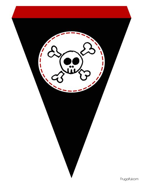 Flag Decorations For Home by Free Printable Pirate Flag Pennant Banner Frugalful