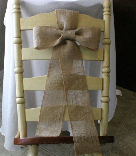 country shabby chic wedding decor burlap chairs sash burlap wedding decor shabby chic