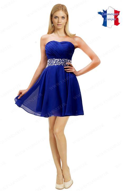 Robe Bustier Bleu Roi Mariage - robe 224 la mode robe de soiree courte bustier bleu