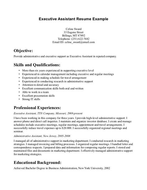 assistant resume sle assistant resume sle 28 images resume sle for