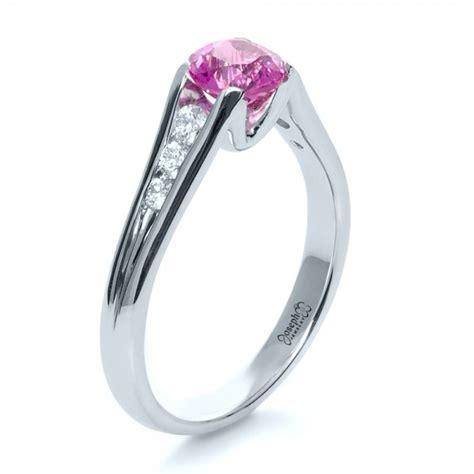 custom pink sapphire engagement ring 1120
