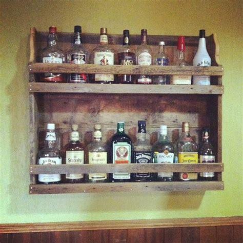 Liquor Bottle Rack by Rustic Reclaimed Wood Liquor And Wine Rack Reclaiming