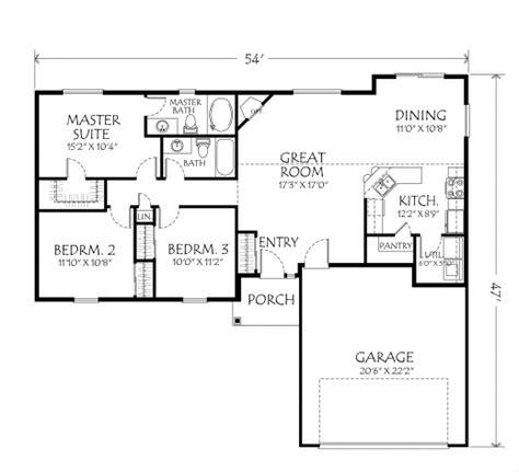 simple 3 bedroom house floor plans simple 3 bedroom house plans single floor house floor plans