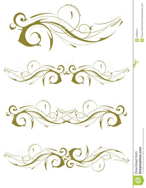 decorative card design exquisite ornamental and page decoration designs stock
