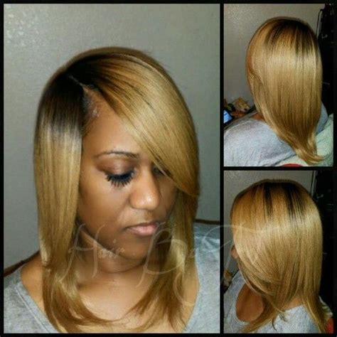 No Part Weave Hairstyles | no leave out quick weave blonde invisible part hair