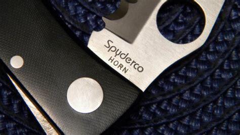 spyderco aus 8 spyderco jess horn aus 8 japan black micarta serrated